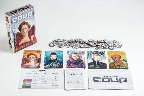 Coup Card Board Game The Dystopian Universe Manipulate Bribe Bluff Fun Fast New  #IndieBoardsCards