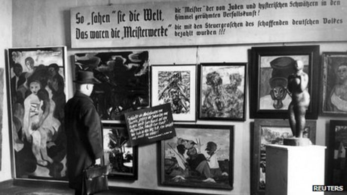 the Degenerate Art Exhibition in Nazi Germany