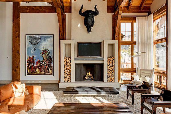 Stunning living room with a safari setup