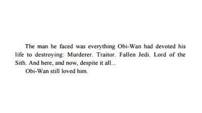 """Quote from the """"Revenge of the Sith"""" novel - Anakin Skywalker & Obi-Wan Kenobi"""