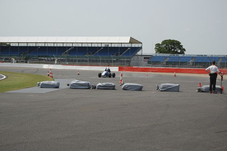 Testing the car out on Formula Student