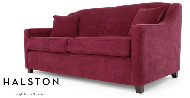 Halston Sofa Bed in Orient red | made.com