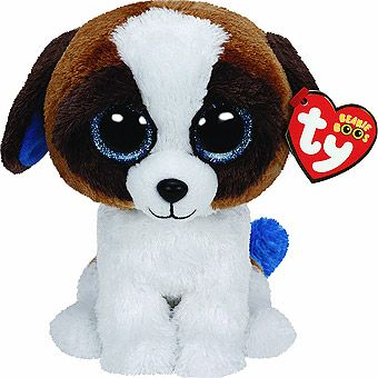 For Talan for Halloween, he is dressing as a doggy - he loves dogs!Duke Beanie Boos Dog - Ty Big Sparkly Eye Cuddly Toys - Cuddly Dogs