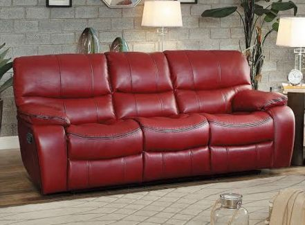 Sofas For Sale Homelegance Pecos Collection Red Leather Gel Power Reclining Sofa RED PW Reclining sofa Red leather and Products