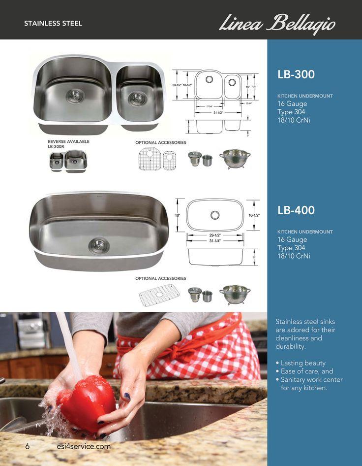 ESI SharpSinks Catalog Pg 6 Stainless Steel Sinks