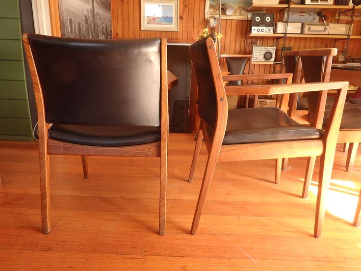 70s carver chairs by T H Brown