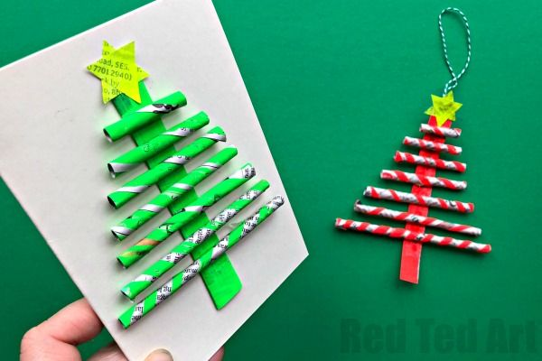 Newspaper Christmas Tree Ornaments Diy Red Ted Art Make Crafting With Kids Easy Fun Diy Christmas Tree Ornaments Ornament Card Christmas Paper Crafts