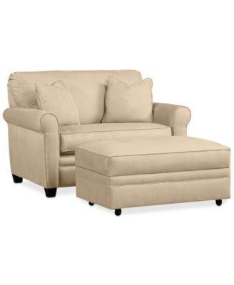 Kaleigh Fabric Twin Sleeper Chair Bed & Storage Ottoman Set: Custom Colors