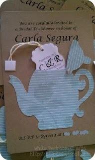 Tea Pot Bridal Shower Invite using Cricut, So many good ideas!!!! @Tabatha Pritchard VanGeertry @Natasha C Parys