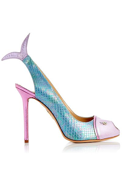 Charlotte Olympia  - Shoes - 2014 Spring-Summer   I LOVE HER HEELS.  SHE MAKES A FISHTAIL HEEL LOOK COOL!