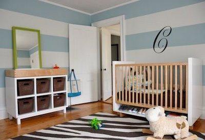 Nursery Interiors on Zebra Rug Green Mirror Nursery Shelter Interior Design White And