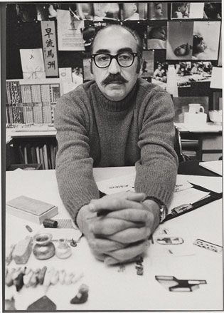 Saul Bass in his office, 1970s