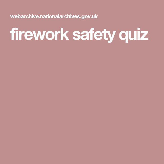firework safety quiz