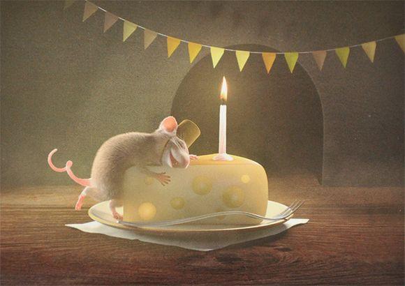 Картинки день рождения и мышонок