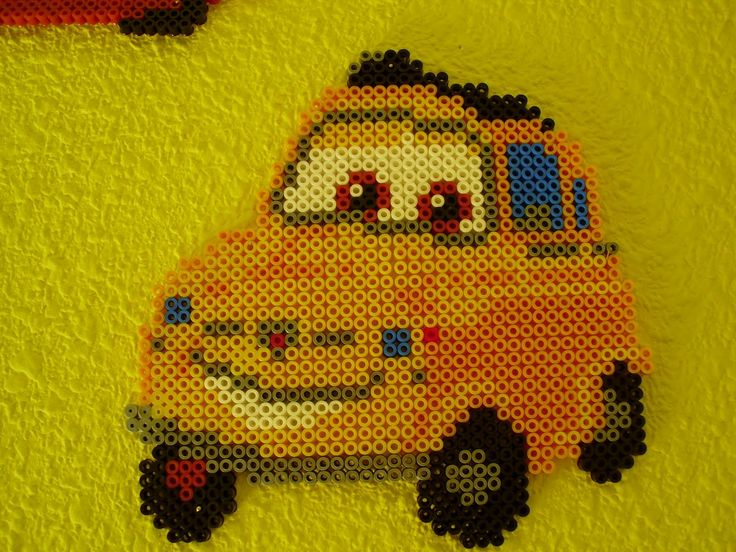 Cars Luigi hama beads by Memekan