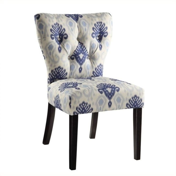 Prato Fabric Accent Chair Blue: Fabric Dining Chairs, Blue Accent Chairs, Armless