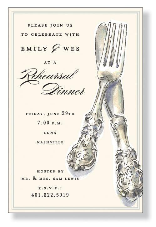 rehersal dinner invitation