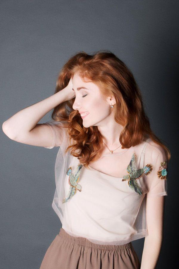 Искусство ручной вышивки по фатину .Автор :Katerina Marchenko. ручная, вышивка, фатин, длиннопост