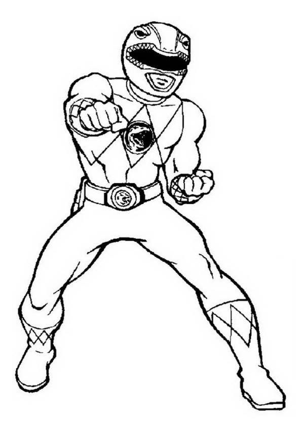 coloring pages power rangers red