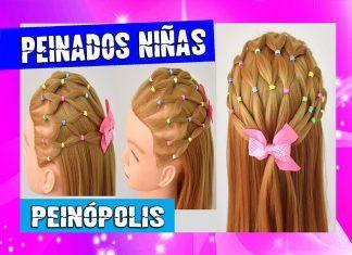 Peinados Semirecogidos con Ligas para Niñas