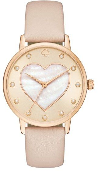 Women's Kate Spade New York Metro Mother-Of-Pearl Heart Watch, 34Mm