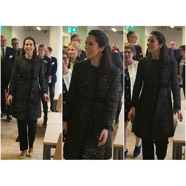 Crown Princess Mary of Denmark opened a new social and health school (Sopu-school) in Vesterbro,Copenhagen on April 15, 2015. (SOPU: (Sundhed, Omsorg, Pædagogik, Uddannelse), is a school of secondary education in Copenhagen. The school provides vocational training and educational programmes within the health sciences. SOPU is an independent self-owning educational institution under the supervision of the state.)