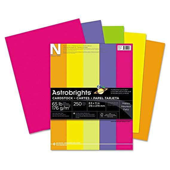 Neenah Paper 21004 Color Cardstock 65lb 8 1 2 X 11 Assorted