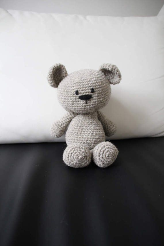 100% Organic Bear, Eco Friendly Toy, Bucwheat Hulls, Organic Children Toy Bear, Organic Baby Toy, Crochet Toy Bear