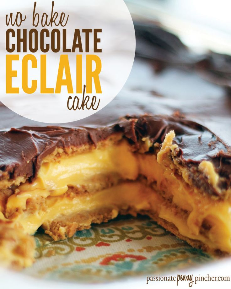 No Bake Chocolate Eclair Cake. Passionate Penny Pincher is the #1 source printable & online coupons! Get your promo codes or coupons & save.
