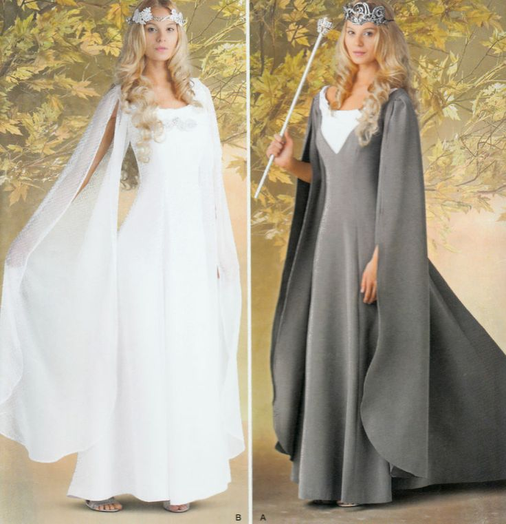 0202 Elven Dress Costume LOTR Queen Gown Sewing Pattern Size 6 10 12 14 Uncut
