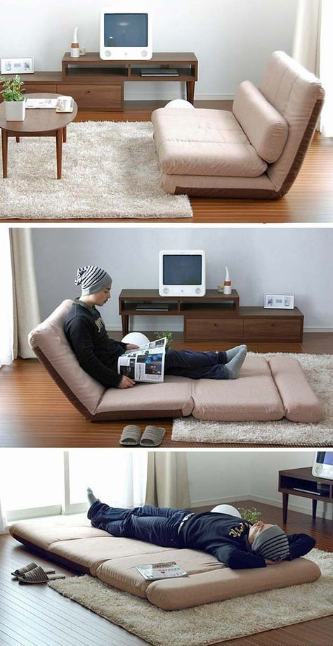 Folding sofas, beds and chaise-lounges for small spaces | http://