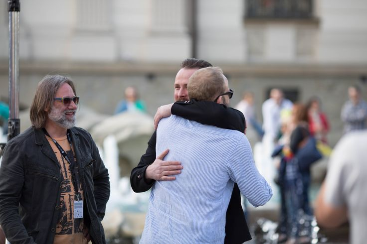 Miasteczko Filmowe to także okazja do spotkania się naszych gości w swoim gronie ;) Na zdjęciu Paweł Małaszyński oraz Borys Szyc.  fot. Grzegorz Milej