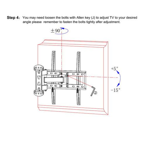 UNHO-Full-Motion-Solid-Articulating-TV-Wall-Mount-for-23-55-034-LED-LCD-Plasma-TV