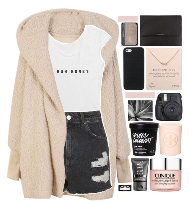 """heroin iz bangkoka."" by dont-go-to-sleep ❤ liked on Polyvore featuring Topshop, Burberry, Clinique, NARS Cosmetics, Inglot, Tory Burch, Dogeared and tiastopset"