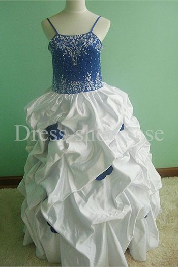 Spaghetti Straps Satin Floor-Length Sleeveless Flower Girl Dresses #flowergirls #flowergirldress #cutedress #dress #beauty #cute #wedding #birthdaydress