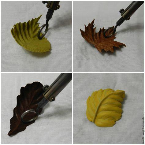 подарок ручной работы. Felt leaves with decoupage type glue backing. Made into a brooch.