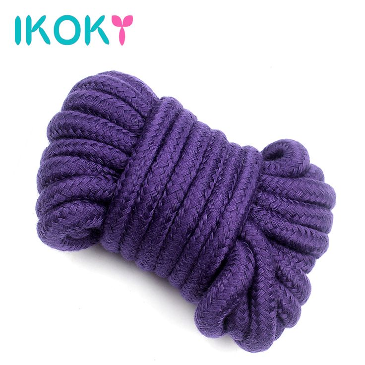 IKOKY Fetish Slave Bondage Rope Soft Cotton Rope SM Game Erotic Product Sex Toys for Couples Flirting Roleplay 4 Colors 5 Meters