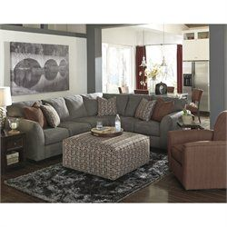 signature design by ashley furniture doralin piece sectional in steel