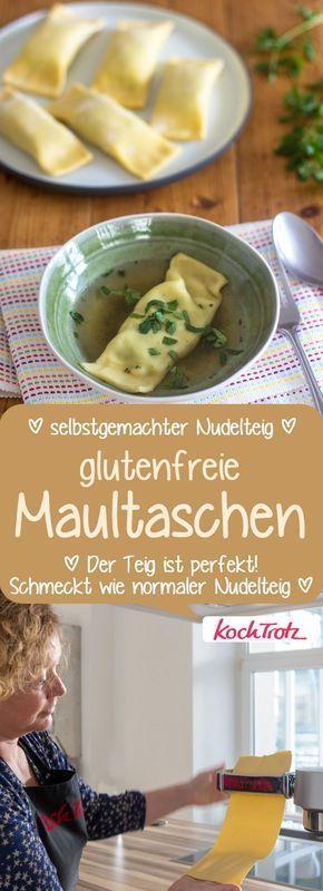 Gluten-free pasta with homemade pasta dough   – glutenfrei