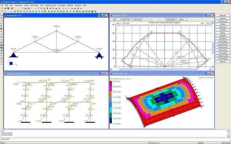 Real3D-Analysis by Computations & Graphics, Inc - Real3D-Analysis is a powerful frame-finite element analysis and design program built from ground up, with latest technologies from the fields of finite element analysis, numerical computation and computer graphics, shell structures, dynamic analysis, concrete design, truss, frame, plate - #
