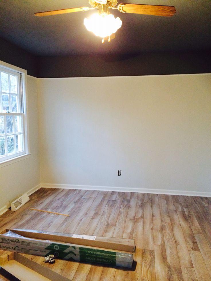 Benjamin Moore Bedroom Ceiling Flat Whale Gray Walls