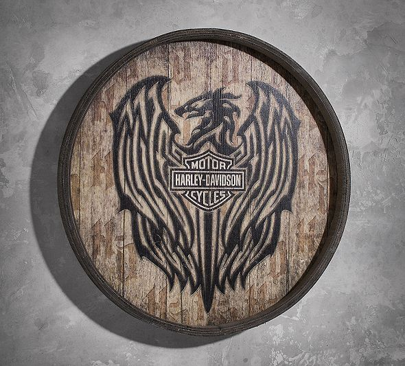 Wooden Barrel Sign | New Arrivals | Official Harley-Davidson Online Store