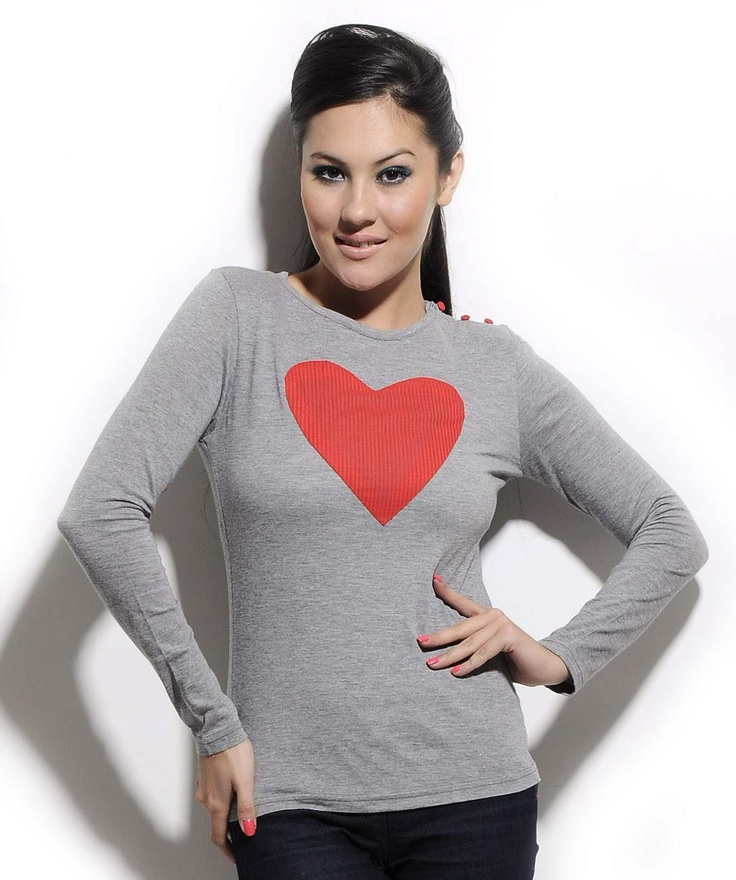 http://www.mydesignersales.com/designers-2/corsage/grey-love-t-shirt-by-corsage.html   #T-shirt