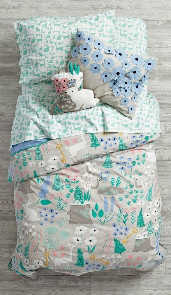 Shop Folktale Forest Kids Bedding.  Deep in a mystical forest, we heard tales of a nature kids bedding set featuring a colorful, printed woodland scene complete with animals, flowers and more.