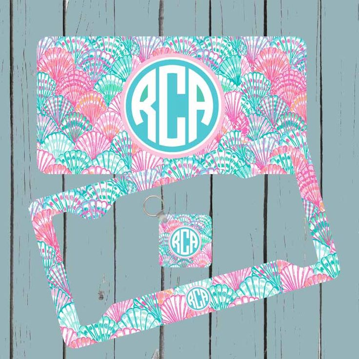 Monogram License Plate - Lily Pulitzer Inspired License Plate - Monogram Car Tag Front License Plate Personalized Plate by CASESJUSTFORYOU on Etsy https://www.etsy.com/listing/266824740/monogram-license-plate-lily-pulitzer