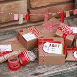 washi tape gift wrap