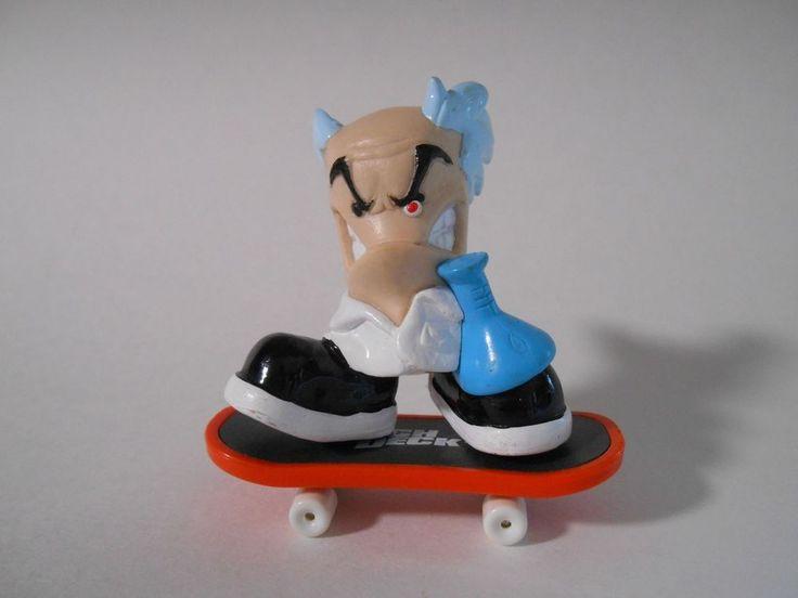 2001 X-Concepts Tech Deck Dudes E.N. Stein Mad Scientist Figure w Skateboard 2in #TechDeck