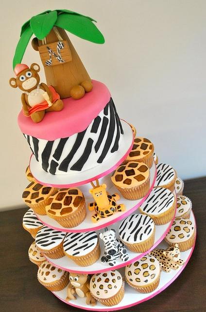 Jungle Cupcake Tower