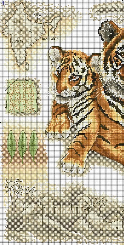 FREE CROSS POINT GRAPHICS: TIGERS (32) Nog heel veel meer telpatronen van grote katten.