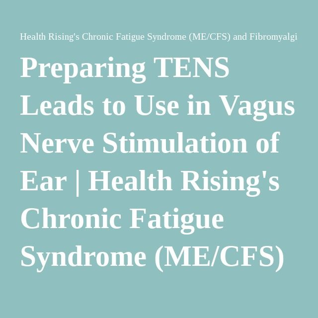Preparing TENS Leads to Use in Vagus Nerve Stimulation of Ear | Health Rising's Chronic Fatigue Syndrome (ME/CFS) and Fibromyalgia Forums